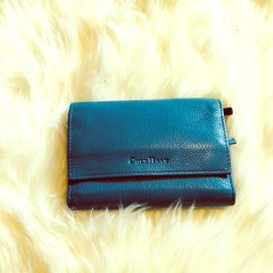 Cole Haan blue leather wallet